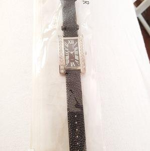 New Black Bijoux Terner Watch with Crystals